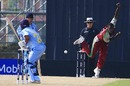 Dawnley Grant bowls to Shreevats Goswami, India Under-19s v West Indies Under-19s, Under-19 World Cup, Kuala Lumpur, February 22, 2008