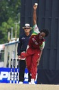 Steven Jacobs turns his arm over, India Under-19s v West Indies Under-19s, Under-19 World Cup, Kuala Lumpur, February 22, 2008