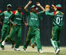 The Bangladesh players rejoice at the fall of a wicket, Bangladesh Under-19s v England Under-19s, Under-19 World Cup, Kuala Lumpur, February 22, 2008