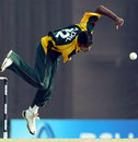 Adil Raza goes airborne in his follow through, Australia Under-19s v Pakistan U-19s, Under-19 World Cup quarter-finals, Kuala Lumpur, February 25, 2008