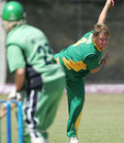 Sunette Loubser delivers the ball, South Africa v Ireland, ICC Women's World Cup Qualifiers semi-final, Stellenbosh, February 22, 2008