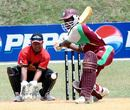 Horace Miller prepares to hammer the ball, Papua New Guinea U-19s v West Indies U-19s, Under-19 World Cup, Johor, February 27, 2008
