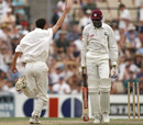 Jason Gillespie celebrates his first Test wicket