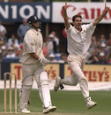Jason Gillespie dismisses Darren Gough, England v Australia, 4th Test, Leeds, July 24-28, 1997