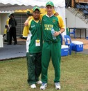 Clayton August and Wayne Parnell after South Africa's win, Pakistan v South Africa, 2nd semi-final, Under-19 World Cup, Kuala Lumpur, March 1, 2008