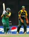 Jonathan Vandiar guides one through the off side as Ali Asad looks on, Pakistan v South Africa, 2nd semi-final, Under-19 World Cup, Kuala Lumpur, February 29, 2008