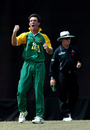 Pieter Malan is fired up after dismissing Virat Kohli, India v South Africa, Under-19 World Cup final, Kuala Lumpur, March 2, 2008