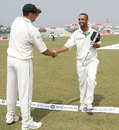 Andre Nel congratulates Robin Peterson for taking his five-for, Bangladesh v South Africa, 2nd Test, Chittagong, 4th day, March 3, 2008