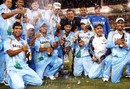 Champagne moment: The Indian team celebrate, Australia v India, CB Series, 2nd final, Brisbane, March 4, 2008