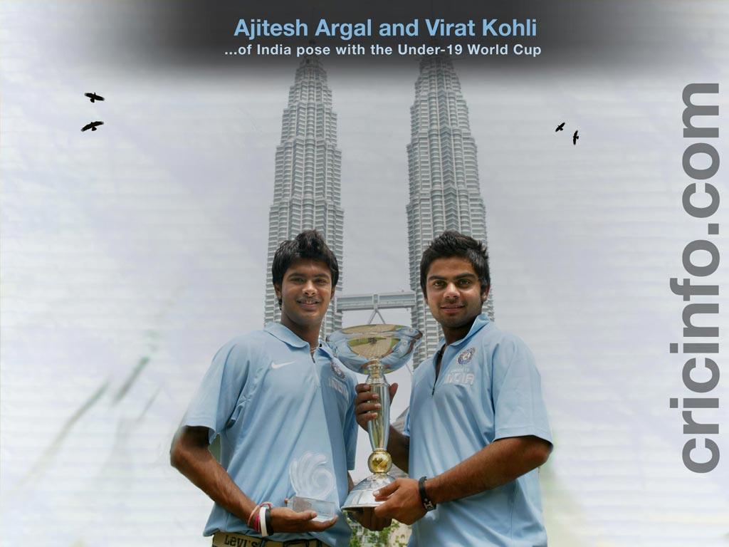 Ajitesh Argal and Virat Kohli