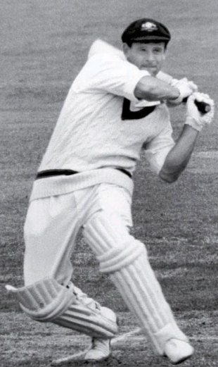 Norm O'Neill on the attack during the 1964 Ashes, July 11, 1964