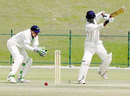 Naeemuddin Aslam on his way to a battling 49, UAE v Ireland, Intercontinental Cup, Abu Dhabi, March 6, 2008