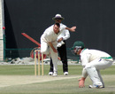 Dave Langford-Smith bustles in, UAE v Ireland, Intercontinental Cup, 3rd day, Abu Dhabi, March 8, 2008