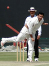 Sameer Zia bowls against Ireland, UAE v Ireland, Intercontinental Cup, 3rd day, Abu Dhabi, March 8, 2008