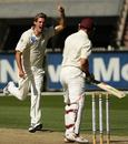 Clint McKay bowls Aaron Nye on his way to a three-wicket haul, Victoria v Queensland, Pura Cup, Melbourne, March 9, 2008