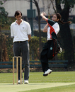 Kristine Wong bowls for KCC against Lamma in the 2007-08 HKCA Women's League Final at Kowloon Cricket Club on 08.03.2008
