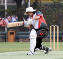 Renee Montgomery batting for KCC against Lamma during the 2007-08 HKCA Women's League Final at Kowloon Cricket Club on 08.03.2008