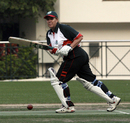 Julie Atkinson batting for KCC against Lamma during the 2007-08 HKCA Women's League Final at Kowloon Cricket Club on 08.03.2008