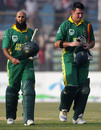 Hashim Amla and Graeme Smith leave the field after sealing the win, Bangladesh v South Africa, 1st ODI, Chittagong, March 9, 2008