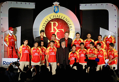 The team launch for the Bangalore Royal Challengers, Bangalore, March 13, 2008