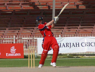 Mal Loye on his way to 83, UAE v Lancashire, Pro ARCH Trophy, Sharjah, March 14, 2008