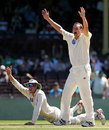 Stuart Clark and Dominic Thornely appeal for a run-out against Nick Jewell, New South Wales v Victoria, Pura Cup final, Sydney, 2nd day, March 16, 2008