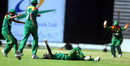 Shathira Jakir completed a fine catch off her own bowling