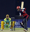 Abhishek Jhunjhunwala steps out against the spinners, Chandigarh Lions v Kolkata Tigers, Indian Cricket League, Gurgaon, March 26, 2008