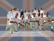 Victorious England team with the Trophy
