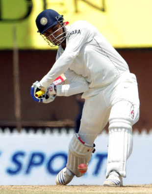 Virender Sehwag readies to bludgeon the ball, India v South Africa, 1st Test, Chennai, 2nd day, March 28, 2008