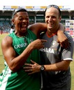 Makhaya Ntini has a hearty laugh with Gary Kirsten, India v South Africa, 1st Test, Chennai, 5th day, March 30, 2008