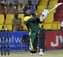 Humayun Farhat smashes one of his four sixes, Lahore Badshahs v Kolkata Tigers, 2nd semi-final, Indian Cricket League, Panchkula, April 3, 2008