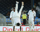 My new run-up: Ishara Amerasinghe does hand-stands, West Indies v Sri Lanka, 2nd Test, Trinidad, 2nd day, April 4, 2008