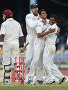 Ishara Amerasinghe is flanked by Michael Vandort and Chamara Silva after he dismissed Dwayne Bravo for 26, West Indies v Sri Lanka, 2nd Test, Trinidad, 2nd day, April 4, 2008