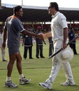 Anil Kumble congratulates Graeme Smith on South Africa's win, India v South Africa, 2nd Test, Ahmedabad, 3rd day, April 5, 2008