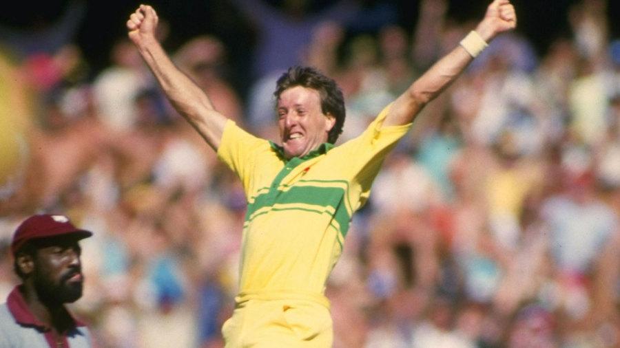 Geoff Lawson celebrates