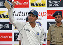 Sourav Ganguly was the Man of the Match for his 87 in the first innings, India v South Africa, 3rd Test, Kanpur, 3rd day, April 13, 2008