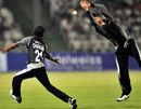 Chris Harris and Upul Chandana fail to catch the ball, India XI v World XI, final, Indian Cricket League, Hyderabad, April 15, 2008