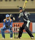 Damien Martyn lines up to play the cut, India XI v World XI, final, Indian Cricket League, Hyderabad, April 15, 2008