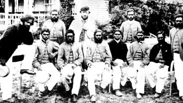 An Aboriginal side captained by Tom Wills at the MCG in 1866