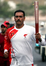 Ravi Shastri carries the Olympic torch in Muscat