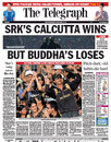 A weekend of IPL dominates the front page of <I>The Telegraph</I>