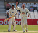 Martin Saggers celebrates a wicket, Nottinghamshire v Kent, County Championship, Trent Bridge, May 7, 2008