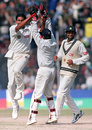 Anil Kumble celebrates on his way to 10 for 74, India v Pakistan, Delhi, February 7, 1999