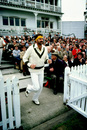 Dennis Lillee leads Australia out, England v Australia, 1st Test, Nottingham, June 21, 1981