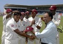 Amit Jaggernauth receives his Test cap, West Indies v Australia, 1st Test, Jamaica, May 22, 2008