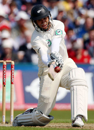 Ross Taylor swings another one over midwicket during his 154, England v New Zealand, 2nd Test, Old Trafford, May 24, 2008
