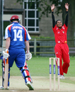 Anish Param celebrates a wicket, Japan v Singapore, World Cricket League Division 5, Jersey, May 29, 2008