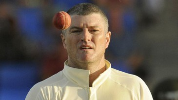 Stuart MacGill gets ready to bowl