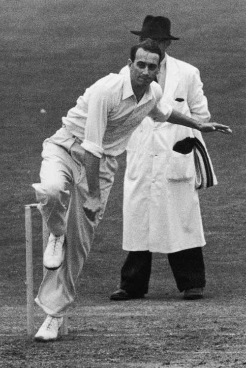 Hugh Tayfield took 9 for 113 as England collapsed